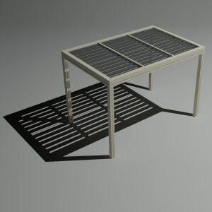 Πέργκολα αλουμινίου 3x2m