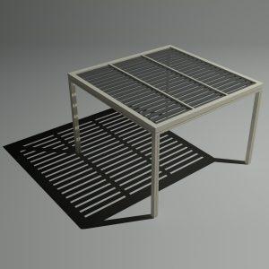Πέργκολα αλουμινίου 3×3m